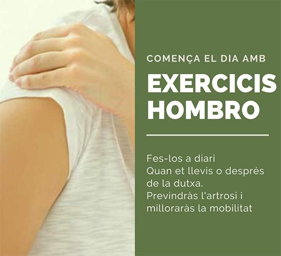 COMENÇA EL DIA AMB EXERCICIS HOMBRO