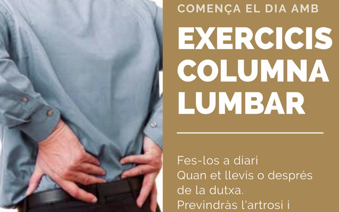 COMENÇA EL DIA AMB EXERCICIS DEL COLUMNA LUMBAR